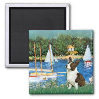 Sailboats - Cardigan Welsh Corgi 5 Magnet