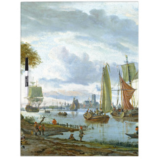 Sailboats Clipper Ships River Dry Erase Board