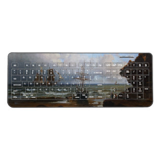 Sailboats Fishing Sailing Ships Wireless Keyboard