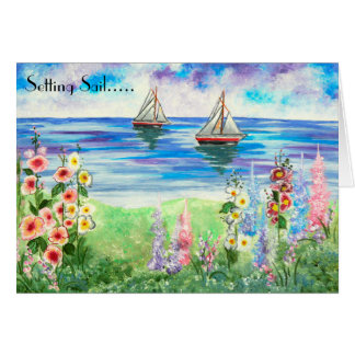Sailboats & Garden All Occasion Greeting Card