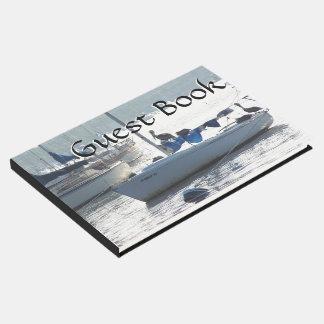 Sailboats Harbor Boats Pelican Birds Guest Book