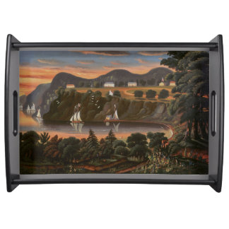 Sailboats Hudson River West Point Serving Tray