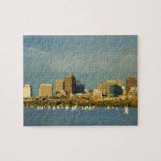 Sailboats in a river, Charles River, Boston, Puzzle