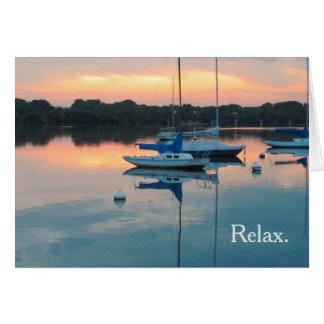 Sailboats in Harbor Retirement Congratulations Card