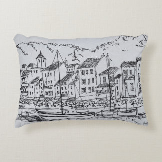 Sailboats in the Harbor | Cassis, France Accent Pillow