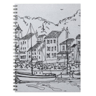 Sailboats in the Harbor | Cassis, France Notebook