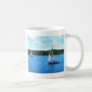 Sailboats In The Summer Coffee Mug