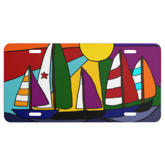 Sailboats in the Sun License Plate