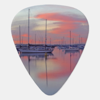 Sailboats In The Sunset Standard Guitar Pick