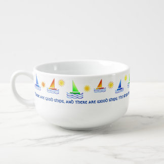 Sailboats Irish Friendship Blessing Soup Mug