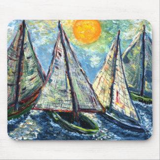 sailboats mousepad