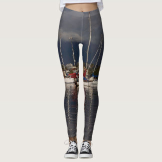 Sailboats Ocean Harbor All Over Print Leggings