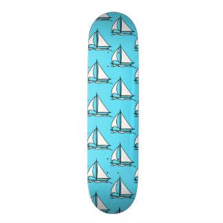 Sailboats On Blue Sea Pattern Custom Skate Board