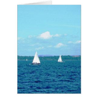 """Sailboats on Lake Champlain"" Card"