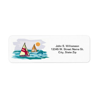 Sailboats on Ocean Waves Summer Beach Theme Custom