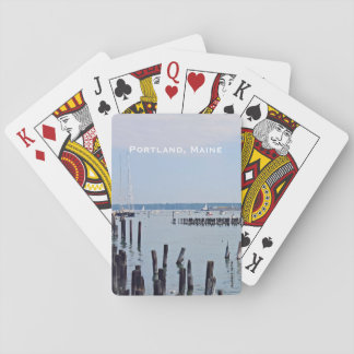 Sailboats On The Coast of Old Port, Portland Maine Playing Cards