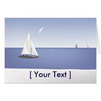 Sailboats on the Horizon Greeting  Card