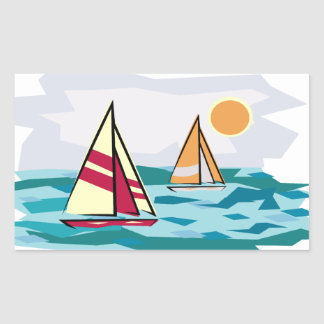 Sailboats on the Sea Sticker