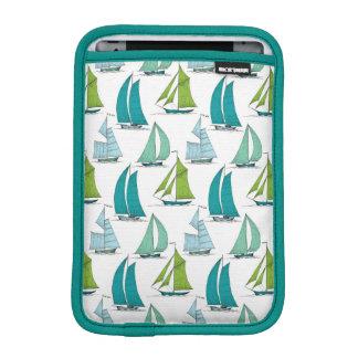 Sailboats On The Water Pattern iPad Mini Sleeves