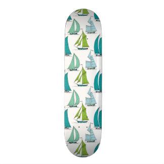 Sailboats On The Water Pattern Skate Board Decks