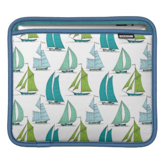 Sailboats On The Water Pattern Sleeves For iPads