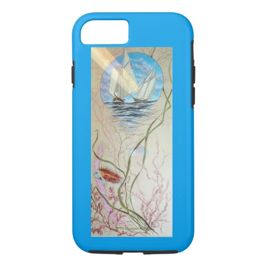 SAILBOATS OVER OCEAN REEF iPhone 8/7 CASE