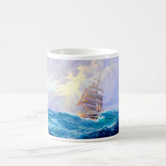 sailboats  painting 47 coffee mug