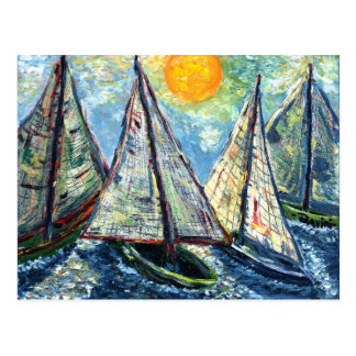 Sailboats Postcard