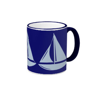 Sailboats, Sailboats, Sailboats! Ringer Mug