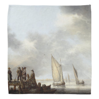Sailboats Sailing Harbor Ocean Sea Bandana