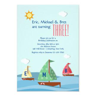 Sailboats Three Invitation