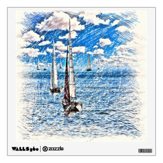 Sailboats Wall Decal