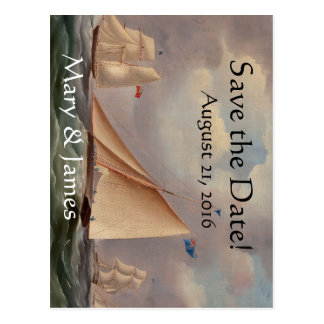 Sailboats Yachts Boat Ocean Save the Date Postcard
