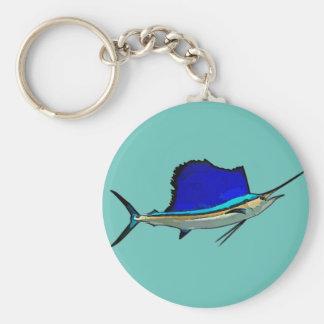 Sailfish Button Keychain