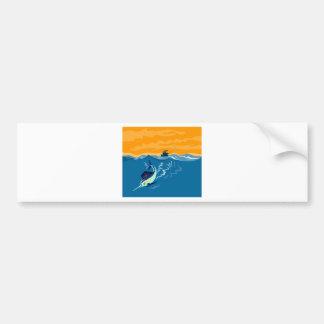 sailfish diving down sea ocean bumper stickers