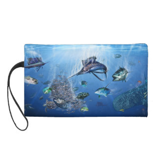 Sailfish Frenzy wrist bag Wristlet Purse