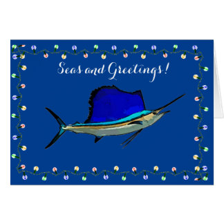 Sailfish Nautical Holiday Card