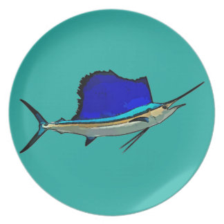 Sailfish pin dinner plates