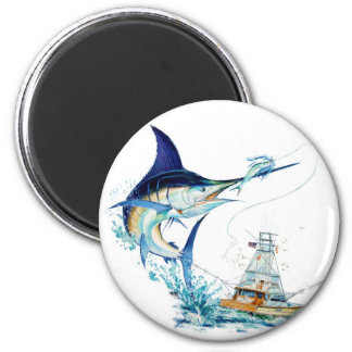 Sailfish Takes the Bait 2 Inch Round Magnet