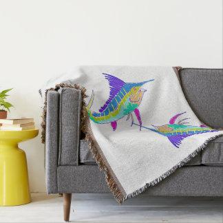 Sailfish Throw Blanket