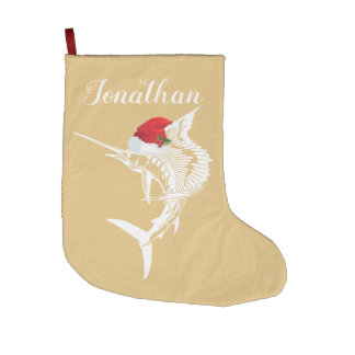 Sailfish with Santa Hat Stocking