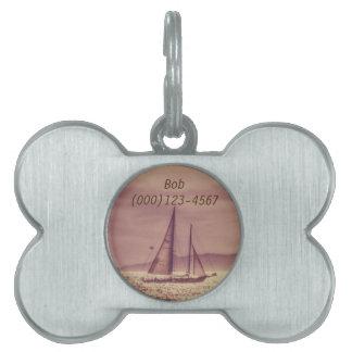 Sailing Across The Golden Sea Pet ID Tag