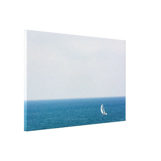Sailing alone II Canvas Print