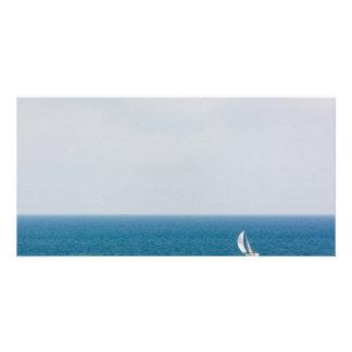 Sailing alone II Customized Photo Card
