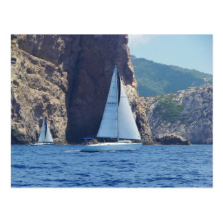 Sailing Along The Coast Of Sardinia Postcard