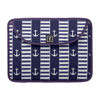 Sailing anchor and stripes pattern sleeves for MacBooks