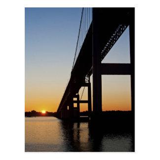 Sailing and leaving Newport Rhode Island Postcard