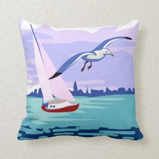 Sailing Artwork Throw Pillow