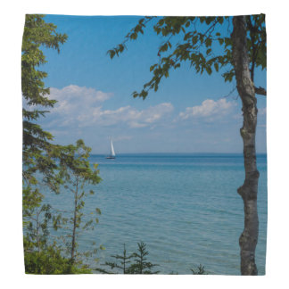 Sailing At Mackinac Bandana