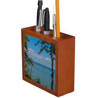 Sailing At Mackinac Desk Organizer